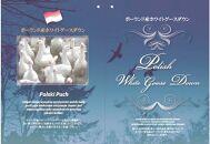 ポーランド産ホワイトグースダウン93%の最高級羽毛(2.0㎏)使用 ツインキルト羽毛掛布団キング(ピンク系/柄お任せ)