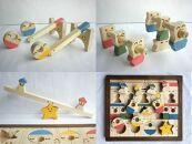 木のおもちゃ「コロポコ積木パズル(スペシャル)&スライドパズル&たまごキャッチくん」3点セット