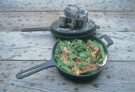 南部鉄器 ダッチオーブン天火 24cm 片手 グリルスキレット 伝統工芸品 鉄フライパン アウトドア キャンプ