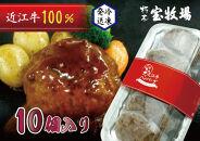 ◆【10個入】近江牛ハンバーグ