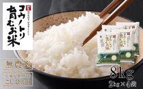 【先行予約受付】コウノトリ育むお米無農薬【2kg×4袋】(94-001)