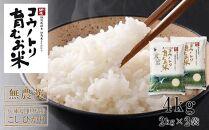 【先行予約受付】コウノトリ育むお米無農薬【2kg×2袋】(94-001)