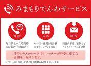 ※受付停止21.5.12※みまもりでんわサービス[固定電話コース](6カ月)