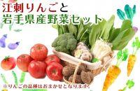 江刺りんごと岩手県産野菜セット【12月お届け】
