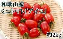 【2020年1月出荷分】和歌山産ミニトマト「アイコトマト」約2kg(S・Mサイズおまかせ)