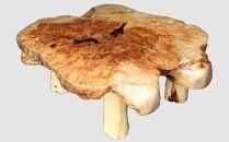 【20】座卓(テーブル)カバ(コブ)・一枚天板【厚さ約9cm】