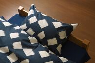 ののすて 颯 掛け布団カバー(シングルサイズ)とピロケースのセット【ブルー】