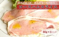 ◇北島農場豚肉使用◇ロースハムスライス