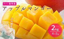 【2021年7月発送】平均糖度13度以上!アップルマンゴー2kg(4~5玉)【先行予約】