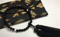 KN016 オニキスと白珊瑚の片手数珠