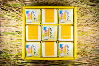 2020年秋収穫分福岡県大川市産ヒノヒカリキューブデザイン9個入り【ギフト包装】