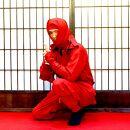 甲賀流忍者衣装赤長袖