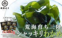 荒海育ち三陸シャッキリわかめ(塩蔵わかめ200g×5袋)