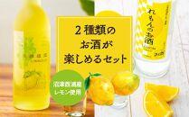 沼津西浦産レモン使用2種類のお酒が楽しめるセット