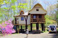 【平日限定】北軽井沢の豊かな自然を感じるキャビン/ツリーハウスペア宿泊券