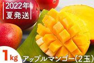 先行受付!【2022年夏発送】NO.1アップルマンゴー!1kg箱(2玉)