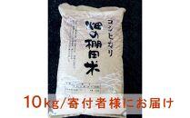 ◆【お米シェア】びわ湖高島畑の棚田米10kg