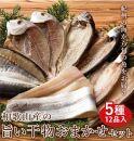 ■和歌山産干物詰め合わせセット5種12品入り【無添加・無着色】