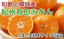 紀州有田みかん5kg(SサイズまたはMサイズ・赤秀品)[厳選]
