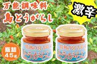 【激辛】情熱の宮古島とうがらし45g×2本セット【瓶詰めタイプ】