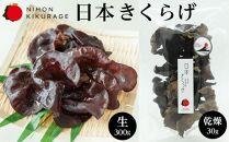 特選日本きくらげ【富士山】-生(300g)【富士山】-乾燥(30g)