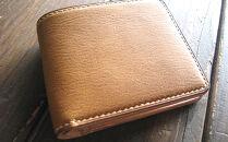 レザー二つ折財布(キャメル)