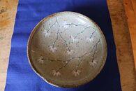 金彩草文中鉢