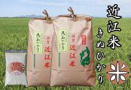 【定期便】令和3年産新米 近江米きぬひかり10kg(5kg×2袋)全3回 米粉200g付き