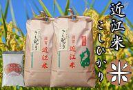 【定期便】令和3年産新米 近江米こしひかり10kg(5kg×2袋)全6回 米粉200g付き