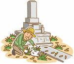 お墓の除草・掃除サービス(面積2㎡~8㎡まで)