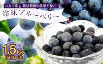 国産冷凍ブルーベリー1.5kg(500g×3)八女市産ブルーベリー
