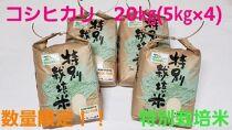 新米令和3年産コシヒカリ20kg(5kg×4)特別栽培米『おかだいらの恵』