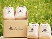 ◆【令和2年産】ファーム・ひらい 環境こだわり米コシヒカリ(白米5㎏×2・玄米5㎏×2)