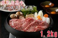 鹿児島黒牛ローススライス<1.2㎏>(T-3001)