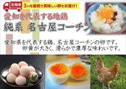 【3か月定期便】日本三大地鶏!! 本当に美味しい食べ物は調味料の味に負けません!「純系 名古屋コーチンの卵」(30個)