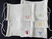 刺繍入りガーゼマスク 5枚セット 米阪パイル織物株式会社