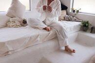 すやすやパジャマオーガニックコットン100%ダブルガーゼ・パジャマ上下 柄:白