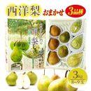 六代多右エ門 西洋梨おまかせ3品種 約3kg(8~9玉)<佐藤農園>