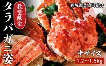 【北海道産】数量限定!タラバガニ姿中サイズ(1.2~1.5kg)<利尻漁業協同組合>