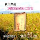 【新米】令和3年産「秋田県産1等米あきたこまち 玄米30Kg」豊嶋満商店