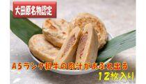 日本料理志ぶ家の与一肉おやき