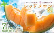 【先行予約】旭川産レッドメロン2玉(7月上旬~発送開始予定)