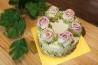 フラワーバタークリームデコレーションケーキ