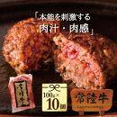 常陸牛ハンバーグ100g×10個【肉のイイジマ】