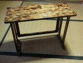 木製レトロ風折り畳みテーブル(小)