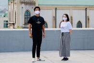 別府温泉ソーシャル・ディスタンシンクTシャツ(Lサイズ/白、黒)