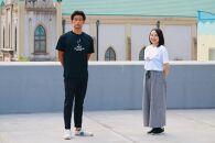 別府温泉ソーシャル・ディスタンシンクTシャツ(Mサイズ白、Lサイズ黒)