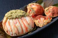 松葉ガニ&セイコガニの甲羅盛り松葉ガニ夫婦丼(めおとどん)セット 大大サイズ