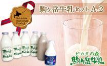 ピカタの森駒ヶ岳牛乳 駒ヶ岳牛乳セット A-2【ピカタの森 駒ケ岳牛乳】
