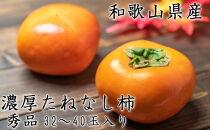 濃厚たねなし柿 秀品 M~2Lサイズ 約7.5kg入り